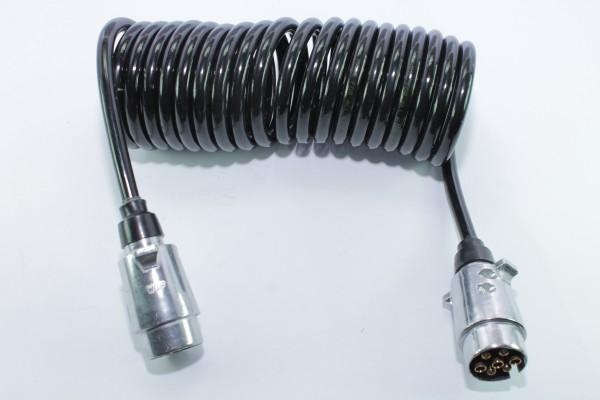 Spiral-Zwischenkabel, Stecker 7-polig, 3,5 m, 12 V, Aluminium ...