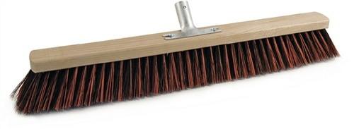 Besen Arenga/Elaston L.600mm mit Metallstielhalter Flachholz