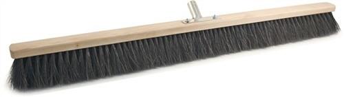 Besen Arenga L.1000mm voll bestückt mit Metallstielhalter Flachholz