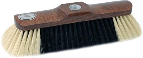 Besen Rosshaarmischung L.280mm braun lackiert mit Gewinde heller Bart