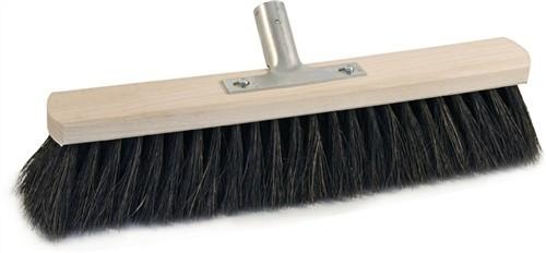 Saalbesen Arenga L.400mm voll bestückt mit Metallstielhalter Flachholz