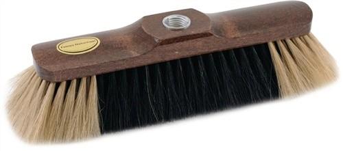 Besen Rosshaar L.280mm braun lackiert mit Gewinde heller Bart