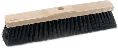 Saalbesen Qualitätsmischung PVC L.600mm mit Stielloch Sattelholz